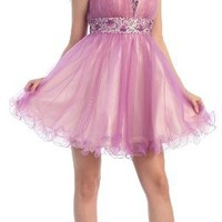 US Fairytailes Strapless Cocktail Party Junior Prom Dress #2698