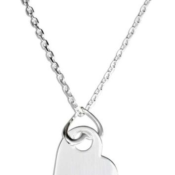 """Sterling Silver 16""""-18"""" Adjustable Double Heart Pendant Necklace"""