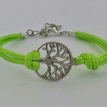 Bracelet TREE of LIFE Yoga bracelet Bracelet with a silver endless charm gift for friend Jewelry Bracelet