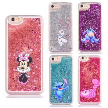 Cute Disney Cartoon Glitter Phone Case Frozen / Stitch /Alice in Wonderland / little mermaid / winnie the pooh