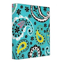 Bohemian Boho MOD Pattern 3 Ring Binder