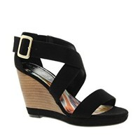 New Look Wide Fit Periphery 2 Wedge Sandals at asos.com