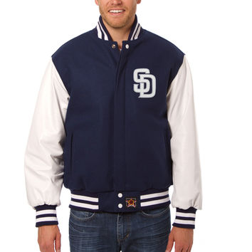 San Diego Padres Wool And Leather Varsity Jacket