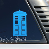 TARDIS Car Decal - Doctor Who Inspired Car Decal - TARDIS Sticker