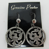 1970s Patriotic Eagle Earrings