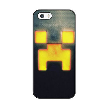 Minecraft Creeper Game Carbon Light iPhone 5|5S Case