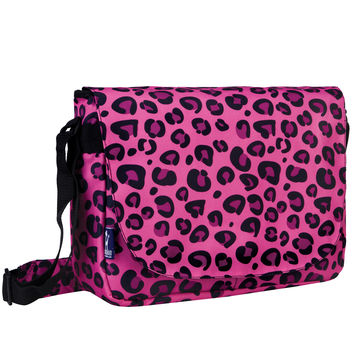 Pink Leopard Laptop Messenger Bag - 38214