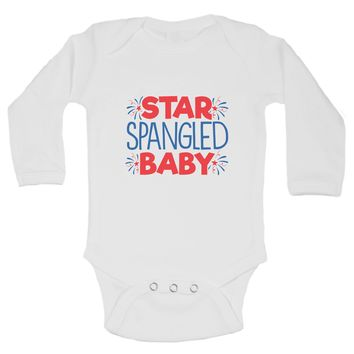 Star Spangled Baby Funny Kids Onesuit