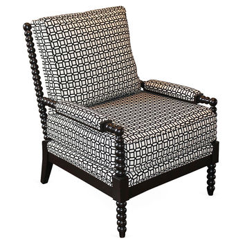 Taylor Burke Home, Gregg Lounge Chair, Black, Accent & Occasional Chairs