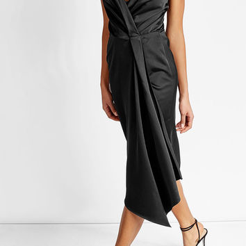 Silk Blend Dress - Victoria Beckham | WOMEN | US STYLEBOP.COM