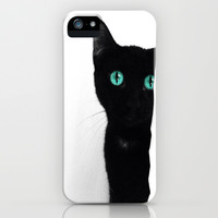 Curious Soul (Blue) iPhone & iPod Case by KittyKate