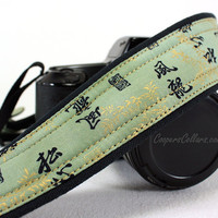 dSLR Camera Strap, Chinese, Oriental, Green, Gold, SLR