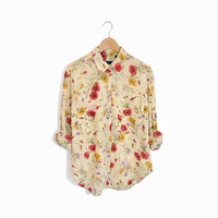 Vintage Floral Print Boy Shirt - size medium