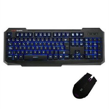Keyboard with Gaming Mouse Tacens PACK116 USB
