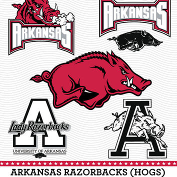 Arkanzas Razorbacks (Hogs) Logo, SVG, dxf, eps, PDF, Digital cut files for Silhouette Studio, Cricut Design Space Cutting Machine SVG-20