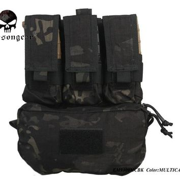 Emersongear Skirmish Pouches Assault Back Panel Pack 500D Cordura  Military Pouches MOLLE Pack For Hunting Airsoft Vests EM9300
