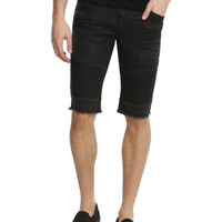 XXX RUDE Black Moto Skinny Shorts