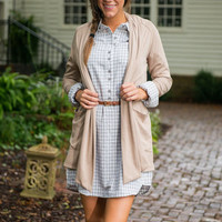Fall For Pockets Cardigan, Beige