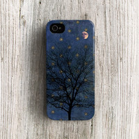 Star iPhone 5 case tree iPhone 5s case mid night iPhone 4 case moon iPhone 4s case antique iPhone 5c case Galaxy note 2 case plastic c108
