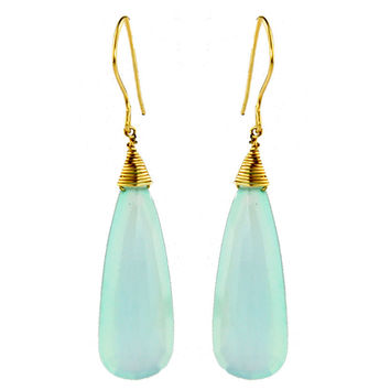 Fine Chalcedony  Earrings