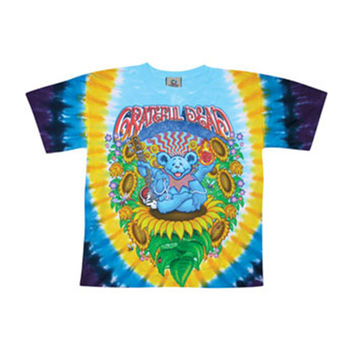 Grateful Dead Men's  Guru Bear Tie Dye T-shirt Multi