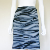 90's abstract print midi skirt / eye candy women's clothing