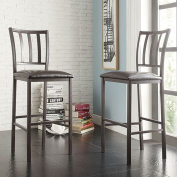 HomeVance 2-piece Fincher Adjustable Counter Stool Set (Brown)