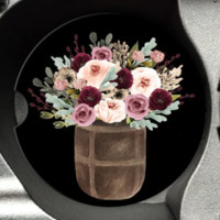 Barrel of Flowers Car Coaster