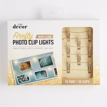 Gold Glittery Firefly LED Photo Clip String Lights | Lights | rue21