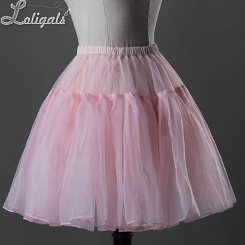 Daily Casual Slip Skirt Sweet Short Organza Petticoat by Classical Puppets