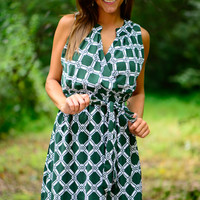 Diamond Days Dress, Green