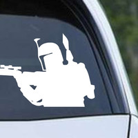 Star Wars - Boba Fett Shooting Die Cut Vinyl Decal Sticker