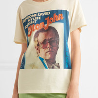 Gucci - Elton John printed cotton-jersey T-shirt