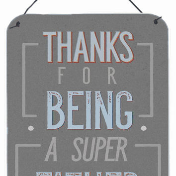 Thanks Super Father Wall or Door Hanging Prints BB5428DS1216