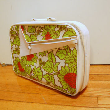 60s/70s Vintage Small Floral Suitcase