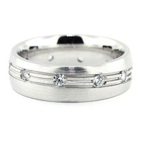 Men's Diamond  Wedding Band - The Ride