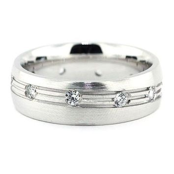 Shop Men s Platinum Wedding Bands With Diamonds on Wanelo b447801880