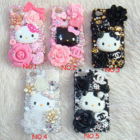 5 Colors New Style Hello Kitty DIY Deco Kit For Cell Phone iPhone 4G 4S 5 Case