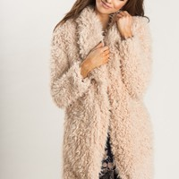 Camila Blush Faux Fur Jacket