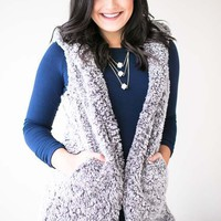 A Team Grey Shearling Vest