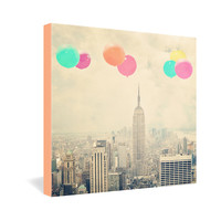 Maybe Sparrow Photography Balloons Over The City Gallery Wrapped Canvas