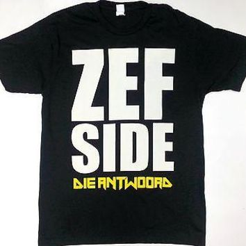 Zef Side DIE ANTWOORD-DOLLAR SIGN TATTOO Black T-Shirt 100% Authentic RARE!!!