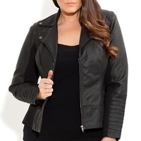 Plus Size Pintuck Evie Jacket - City Chic - City Chic