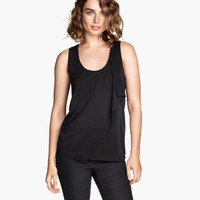 H&M Draped Jersey Top $10