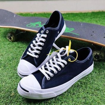 CREYNW6 Sale Polar Skate Co. x CONVERSE Jack Purcell Pro XO Dark Blue Suede Skateboard Shoes Sneaker