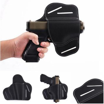 Tactical Leather Gun Holster Concealed Carry Holsters Belt Holster Airsoft Gun Bag Hunting For Handguns 1911 Glock Sig Sauer