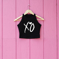 XO Crop on American apparel inspired by the weeknd theweeknd concert gift can't feel my face