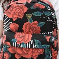 Retro Rose Canvas Backpack from SarahHunt