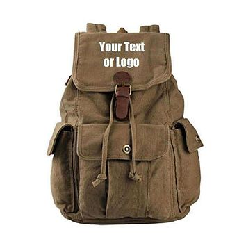 188e085b3b Custom Personalized Canvas Backpack 28 Liter Great For School Or
