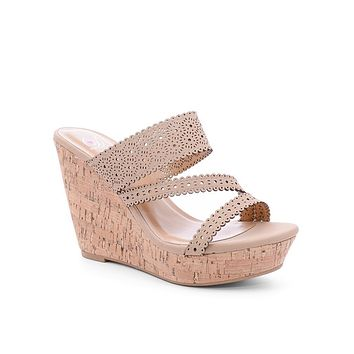 Tan Kaylee Cork Wedges